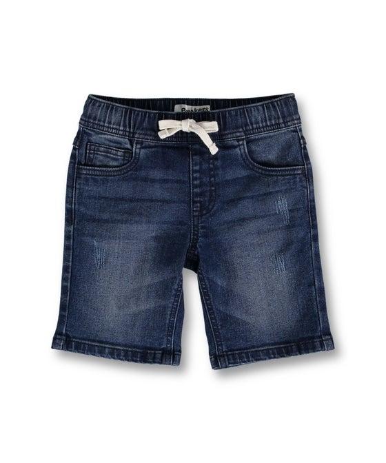 Little Kids' Distressed Pull on Denim Short