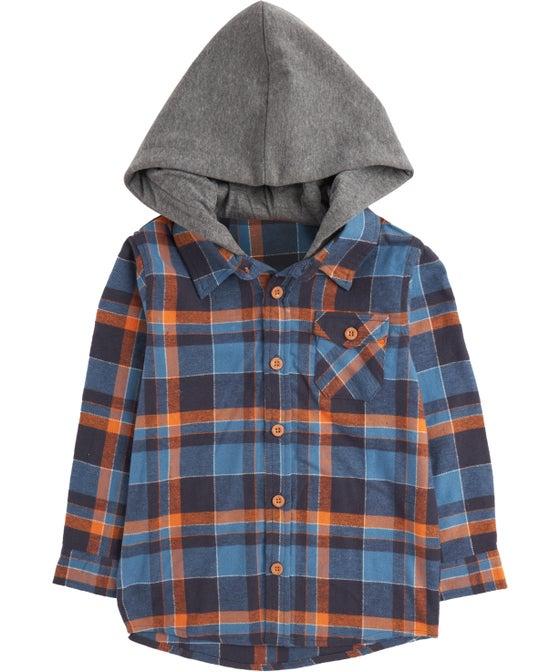 Little Kids' Hooded Flannel Shirt