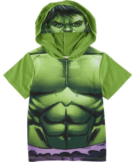 Little Kids' Licensed Hulk Hooded Novelty Tee