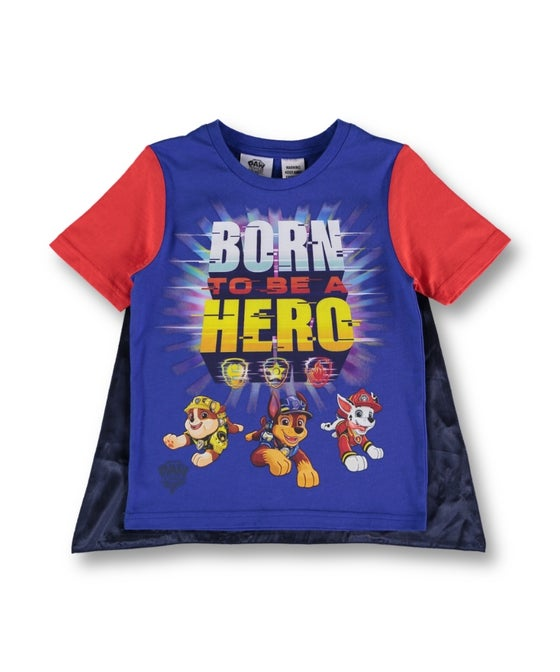 Kid's Licensed Paw Patrol Tee With Cape