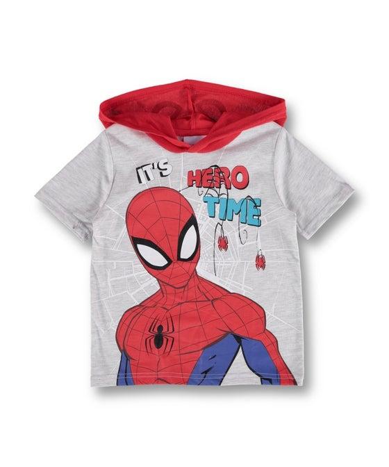 Little Kids' Licensed Spiderman Hooded Novelty Tee