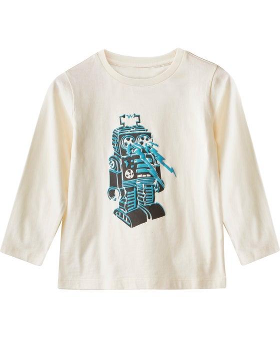 Little Kids' Long Sleeve Puff Print Tee