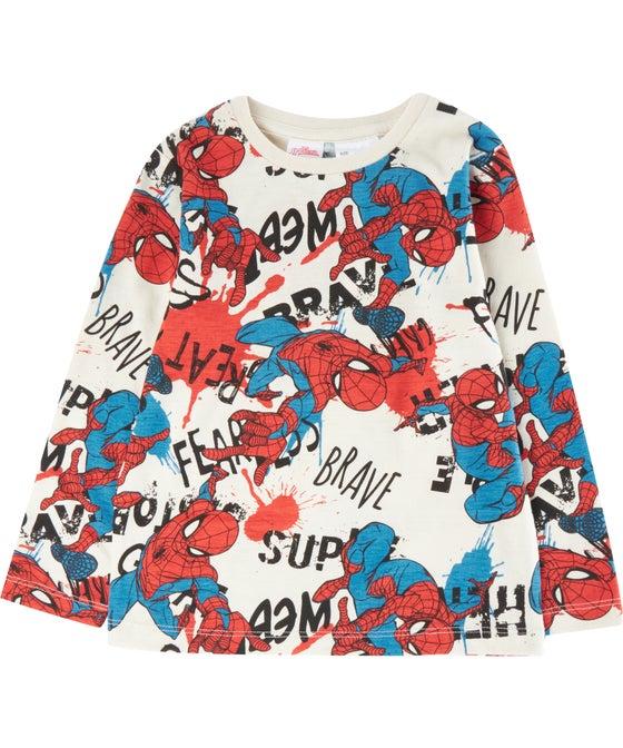Little Kids' Long Sleeve Spiderman Tee
