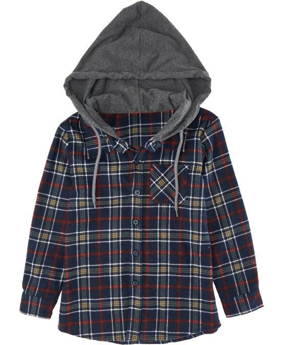 Little Kids' Mini Me Hooded Flannel Shirt