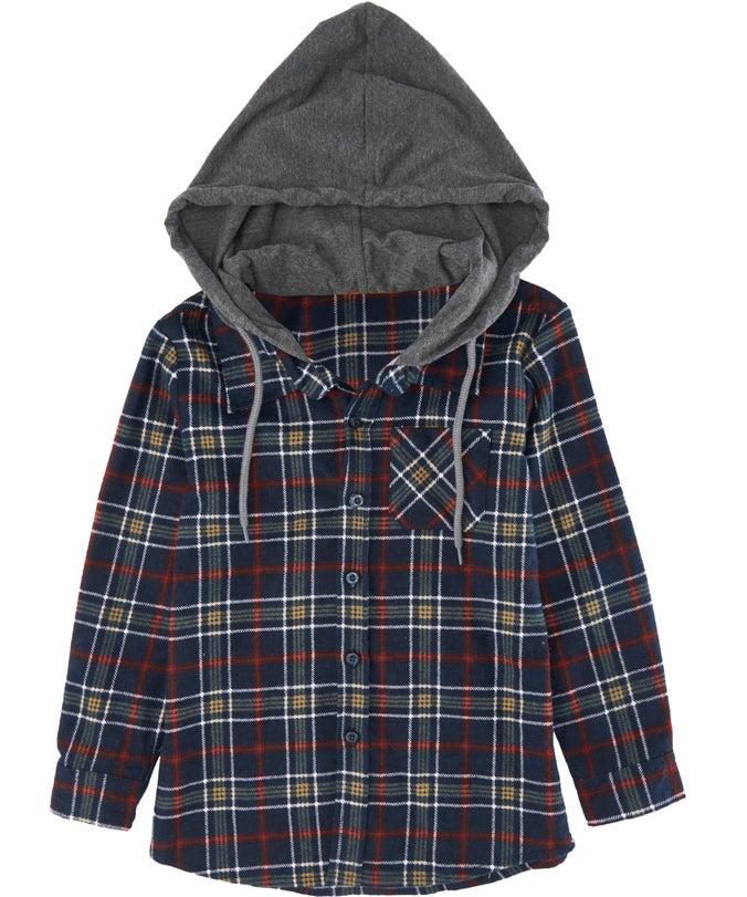 IB Mini Me Hooded Flannel Shirt