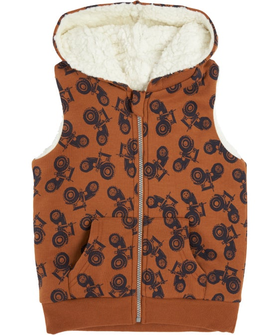 Little Kids' Printed Sherpa Vest
