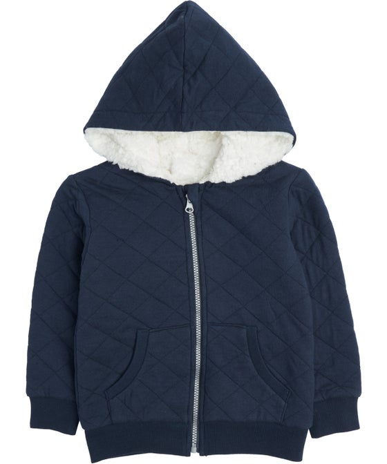 Little Kids' Quilted Sherpa Hoodie