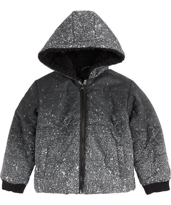 Little Kids' Sherpa Lined Print Puffer Jacket