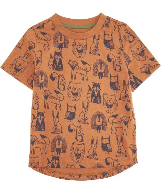 Little Kids' Short Sleeve All Over Print Tee