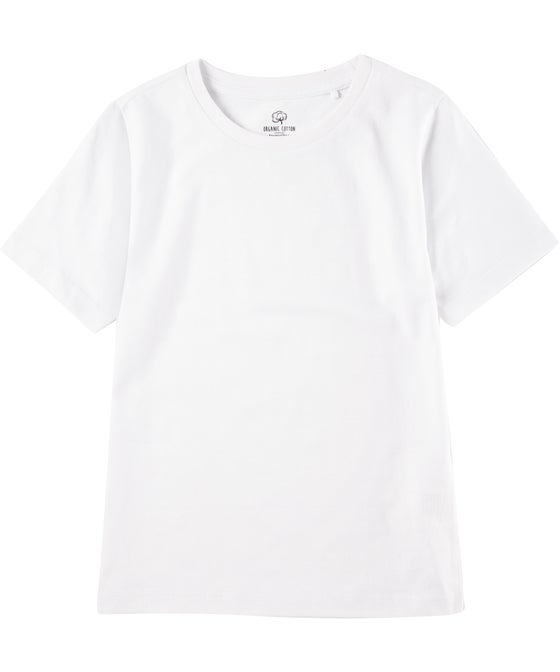 Little Kids' Short Sleeve Plain Organic Tee