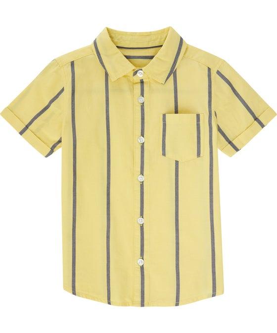 Little Kids' Short Sleeve Printed Cotton Shirt