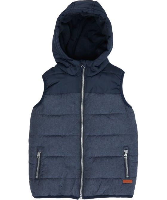 Little Kids' Textured Fleece Lined Puffer Vest