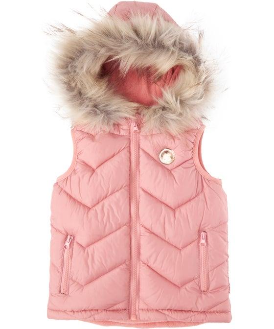Little Kids' Fleece Lined Puffer Vest