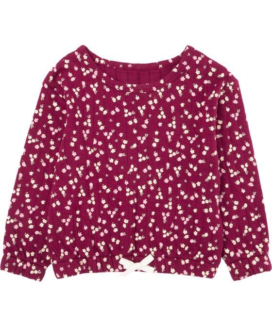 Little Kids' Gathered Hem Print Sweatshirt