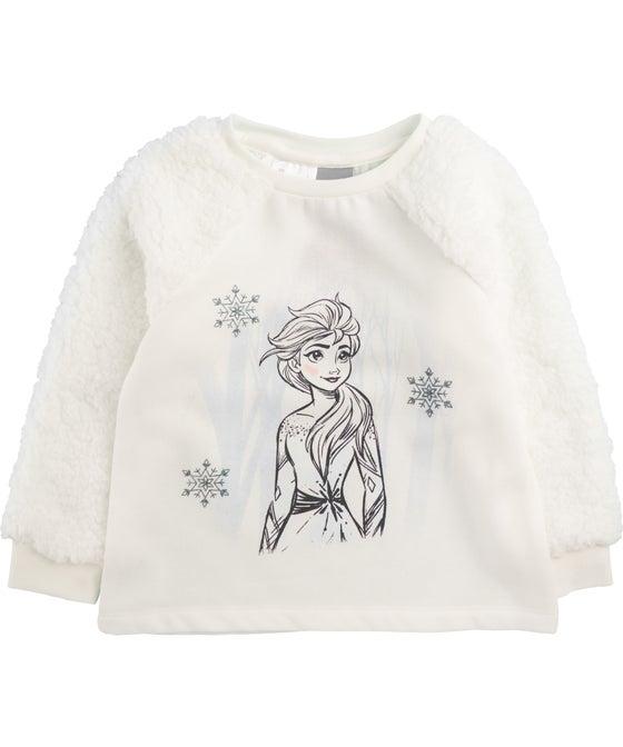 Little Kids' Licensed Frozen Fluffy Sleeved Sweatshirt