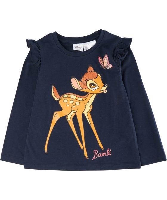 Little Kids' Long Sleeve Licensed Bambi Glitter Top