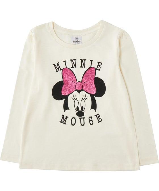 Little Kids' Licensed Minnie Glitter Tee
