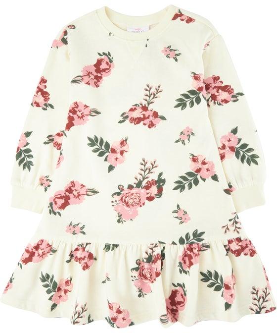 Little Kids' Mini Me Puff Sleeve Fleece Dress