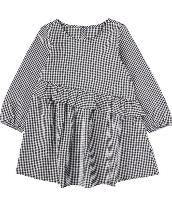 IG Mini Me Woven Ruffle Dress