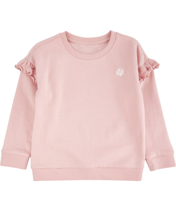 Little Kids' Organic Cotton Frill Sweatshirt