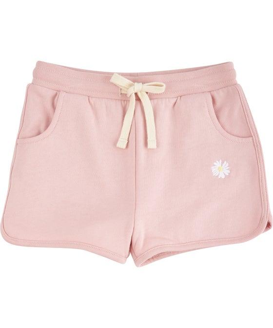 Little Kids' Organic Cotton Sporty Sweat Shorts