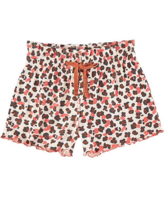 Little Kids' Organic Printed Rib Shorts