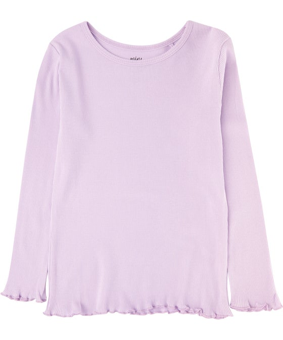 Little Kids' Organic Cotton Rib Long Sleeve Top
