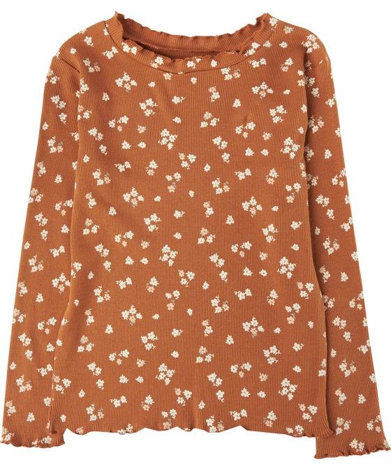 Little Kids Organic Cotton Rib Long Sleeve Top