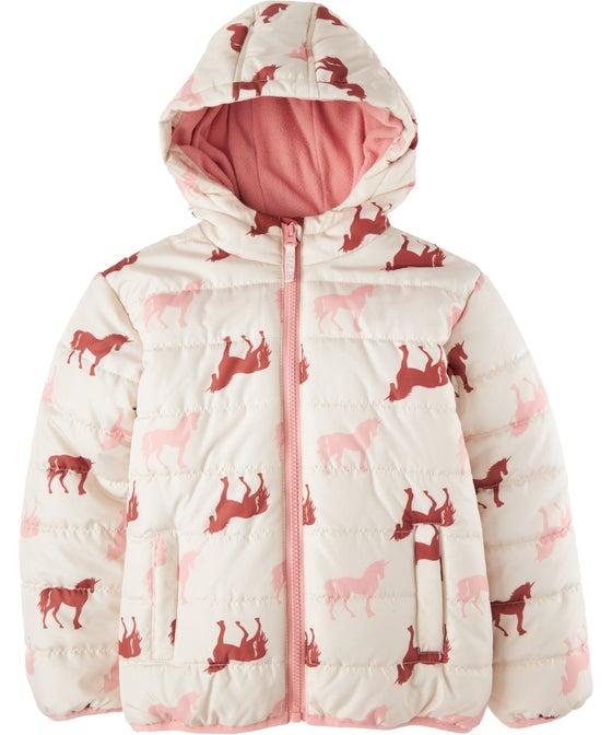 Little Kids' Print Puffer Jacket