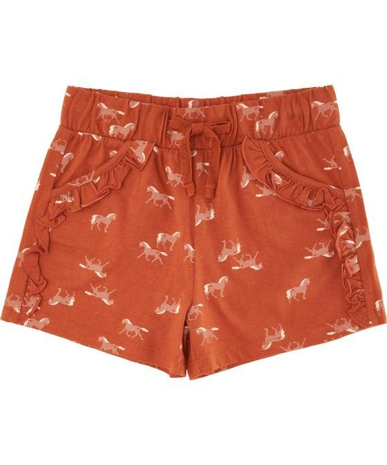 Little Kids' Printed Ruffle Pocket Shorts