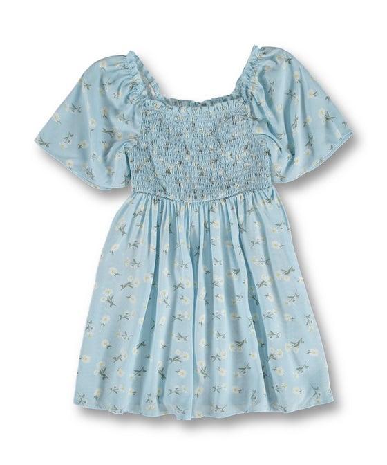 Little Kids' Printed Shirred Woven Dress