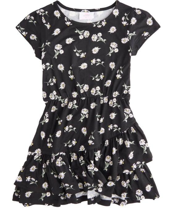 Kids' Ruffle Wrap Knit Dress