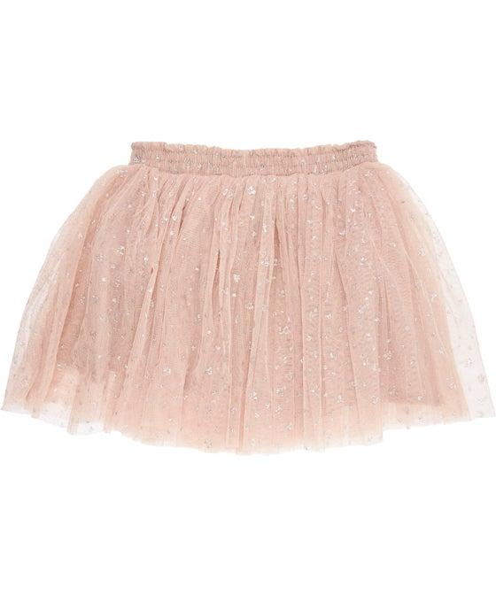 Little Kids' Shirred Waist Tulle Skirt