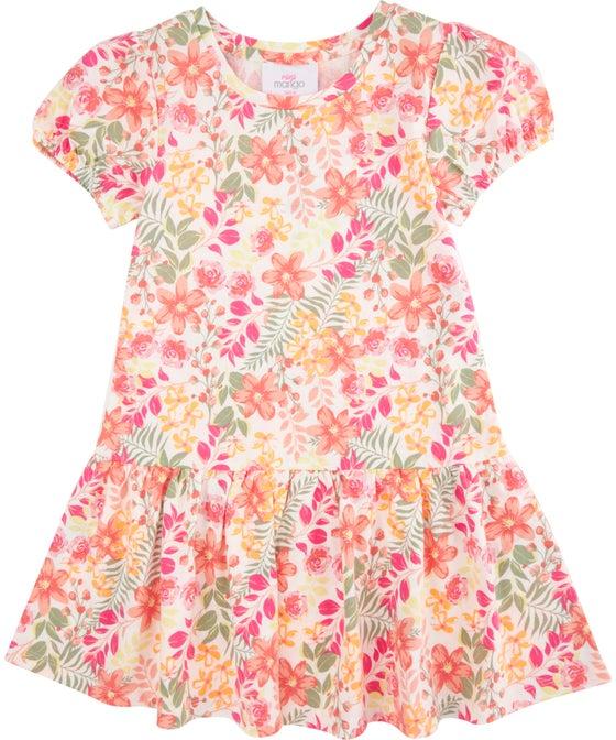 Little Kids' Drop Hem Knit Dress