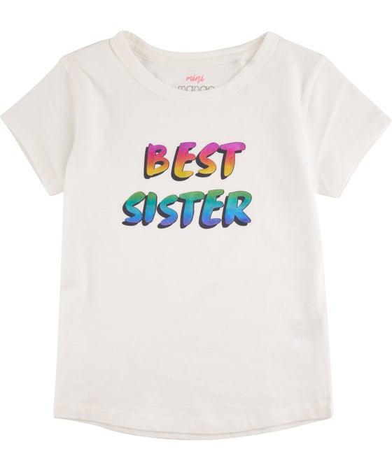 Little Kids' Glitter Print Short Sleeve Tee