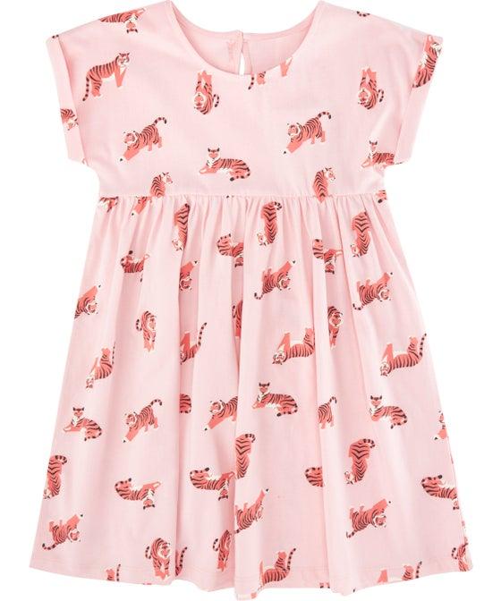Little Kids' Roll Sleeve Baby Doll Knit Dress