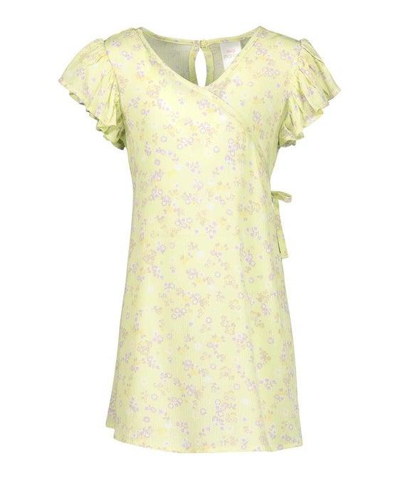 Little Kids' Woven Viscose Wrap Dress