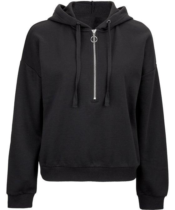 Women's 1/4 Zip Hooded Sweatshirt