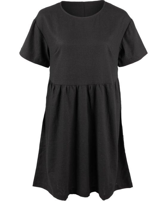 Womens' Baby Doll Linen Blend Dress