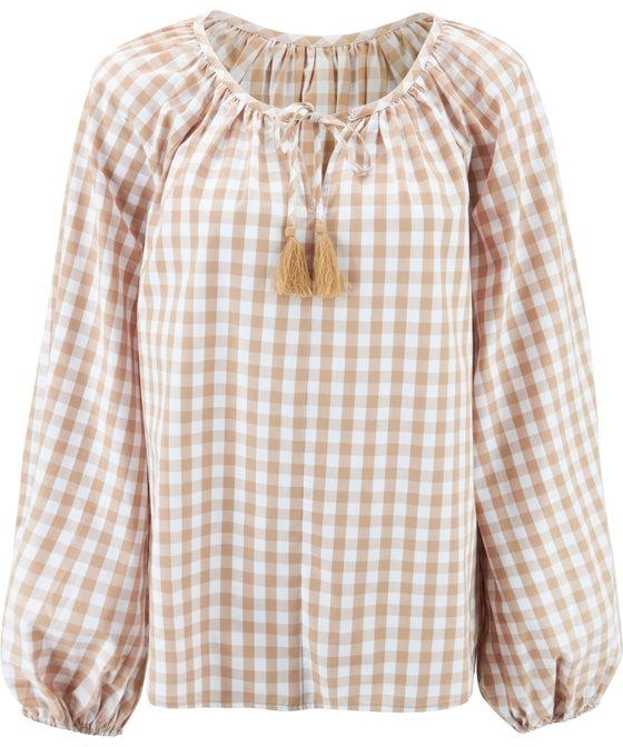 Women's Balloon Sleeve Cotton Top