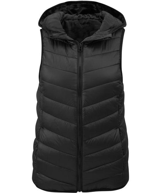 Women's Basic Hooded Puffer Vest