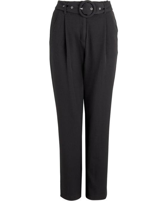 Women's Belted Peg Leg Pant