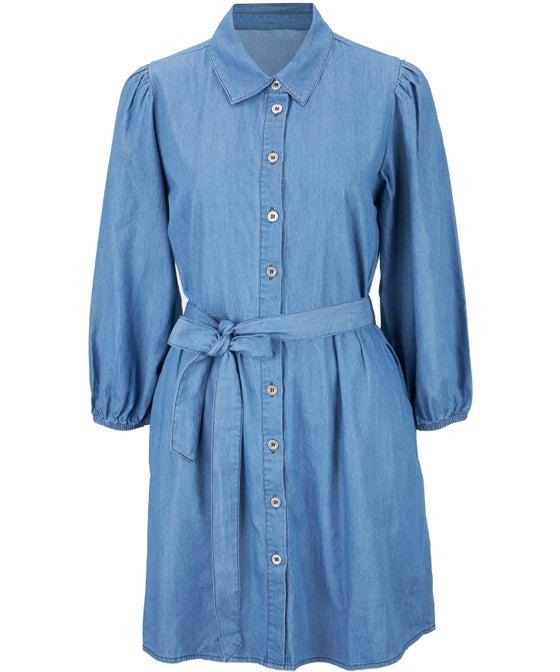 Women's Chambray Shirt Dress