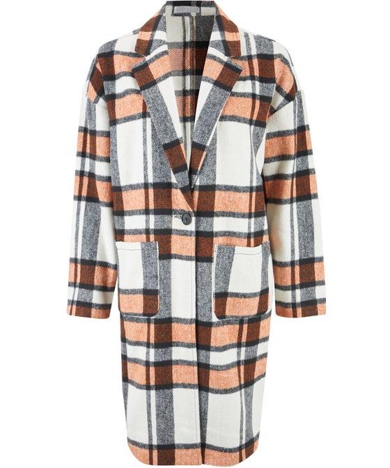 Women's Checked Over Coat