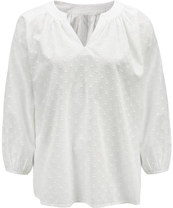 Women's Cotton Jacquard Top