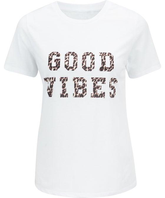 Women's Crew Neck Printed T-shirt