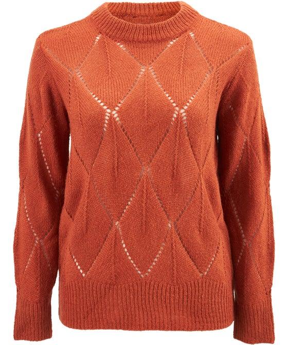 Women's Diamond Open Knit