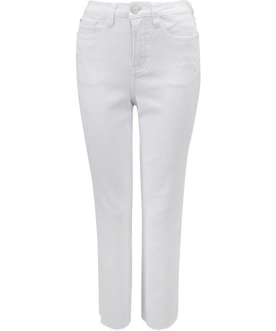Women's Distressed Straight Leg Jean