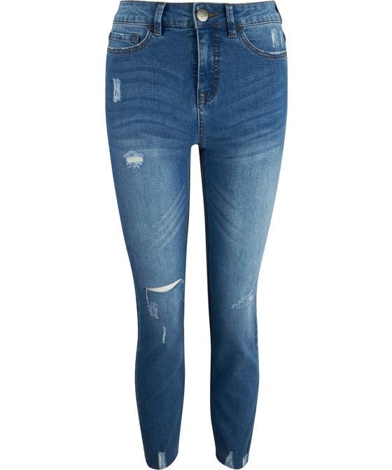 Women's Distressed Vintage Skinny Jean