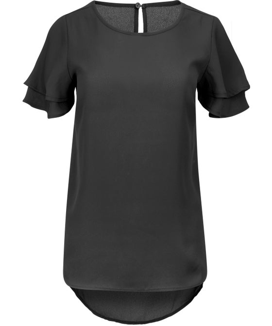 Women's Double Frill Sleeve Top